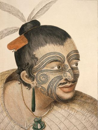 Portrait of a Maori Chief, Sydney Parkinson, 1769 (1)