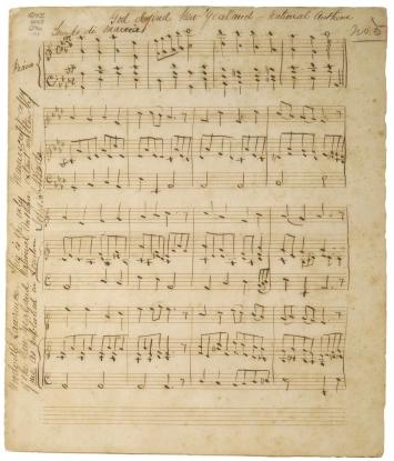 Woods' handwritten manuscript